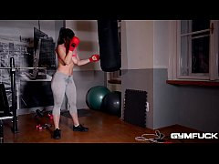 Gym Fuck Masturbation Makes Nekane's Big Tits Sway And Her Pussy Wet