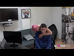 A horny boss and a young shy candidate. Best jo...