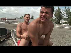 GAYWIRE - Roof Top Anal Sex With Santiago & Mario