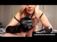 Cock Stroking Queen Milf Julia Ann Uses Gloves ...