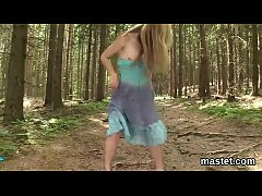 Slutty czech chick stretches her tight vagina to the limit