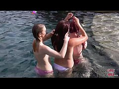 GIRLS GONE WILD - Gorgeous Young Lesbians Having Fun In Extravagant Pool