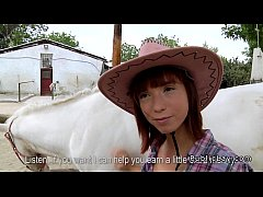 Amateur cowgirl with beautiful booty fucking ou...