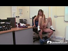 Schoolgirl works for a grade with her body