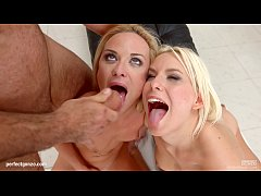 Threesome spermswapping cumshot scene with Kristal Kaytlin & Lucy Shine by Sperm
