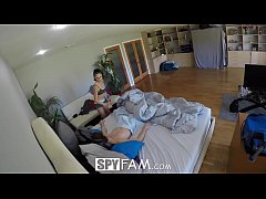 SpyFam Step sister Ariana Marie fucked after pa...