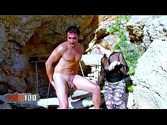 Blonde french slut fucked in the ass on a publi...