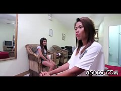 Thai legal age teenager blows a knob