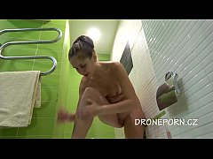 Naked teen Shaving legs - Hidden cam