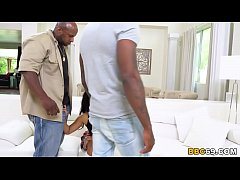 Violet Rae's First Interracial Scene With Big B...
