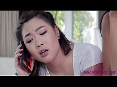 Asian beauties fucked by one guy