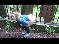 Naughty british babe Ashley Riders outdoor flashing and public nudity of wild ex