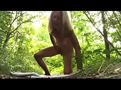 Crazy Wife  masturbation in jungle