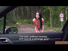 Sexy Daphne Klyde smashed by stranger dude in the woods