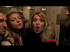 Street Sluts Gina Gerson & Ria Sunn picked up & Anal fucked together