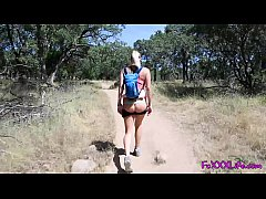Flashing on hiking trail leads to Brooke swallowing - TheFoxxxLife -