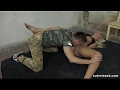 Hot babe Daisy Lee getting used and abused as a sex slave
