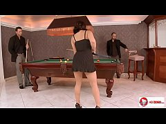 Liza Del Sierra Group Anal Sex In The Billiards...