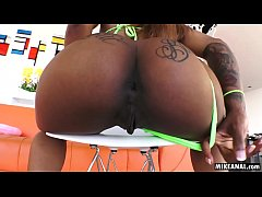 The perfect ebony ass fucked by a big white dic...
