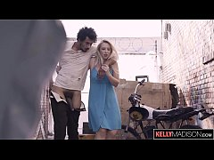 Horny Blonde Can't Resist BBC on the Street