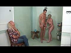 My stepmom and her old friend want my dick! - E...