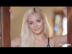 Sexy Elsa Jean gets down and dirty and masturbates after a sexy striptease