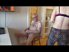 Ulf Larsen get caught by the whore Angel, while wanking