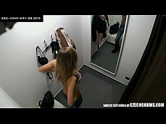 Awesome Teen Girl Tries Out Underwear in Linger...