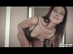 Spanish Lorena bangs her...