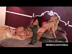Busty Blonde Bombshells Nikki Benz & Puma Swede Cum Together