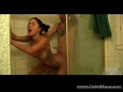 Excellent teen fucked in shower 00