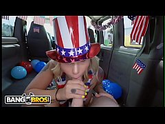 BANGBROS - 4th of July Celebration On The Bus W...