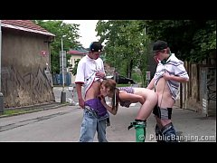 y. with a hot blonde girl having fun threesome ...