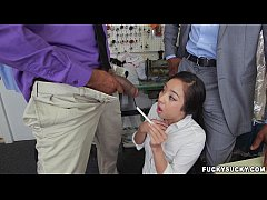 Asian Teen Mila Jade Receives Interracial Double Penetration At The Cleaners