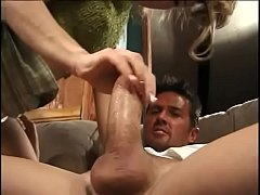 Blonde college girl is eager to suck sexy stud'...