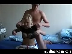 German Blonde GF Banged In Front Of Webcam
