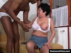 This old woman never had a fat black cock befor...