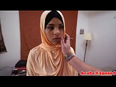 Cocksucking muslim beauty gets pounded