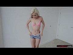 Small tits blonde teen stepsis Elsa Jean gets p...