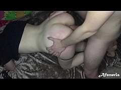 Girlfriend Fucking Doggy Style With Stranger Until Husband Returns From Work