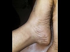 What a great massage, with her toes