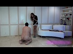 thumb hot young sa distic mistress teaches her slave a painful lesson