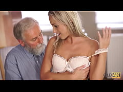 OLD4K. Sex of old pedagogue and sexy chick ends...