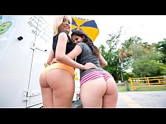 BANGBROS - Big Booty Surprise With Latina Pornstars Jenny Hendrix and Evie Delatosso On Ass Parade!
