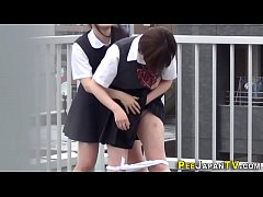 Teenage asians urinate and get watched
