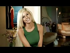 bimbo blonde takes off clothes while being interviewed kenzi marie