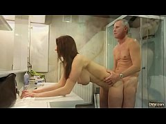 Tube Dupe - Oldje - Old man strokes big jugged ...