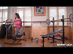 Gym fuck with busty milf Anissa Kate makes you wanna cum all over her tits