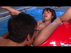 Superb fuck by the pool with Hazuki Okita  - More at Javhd.net