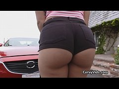 Oily booty fucked after car trouble emerges